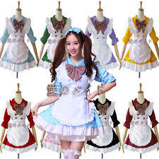 French Maid Halloween Costumes Anime Maid Cosplay Ebay