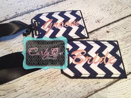 and groom luggage tags and groom luggage tag set chevron fabric embroidered