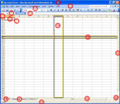 the elements of the excel screen excel tutorial