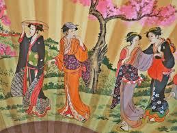 Oriental Wall Fans by Bargain Oz Geniune Oriental Silk Fan Large Wall Fan