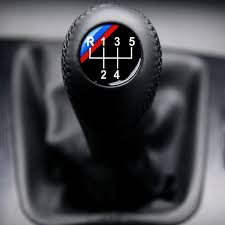bmw e34 m technic leather gear shift knob stick 5 speed manual