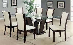 dining room set up modern glass dining table set fair dining room