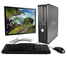 Dell Desk Computers Dell Optiplex Computer Package With Wifi Dual