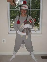 diy sock monkey costume pictorial instructions halloween