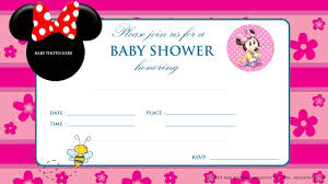 free printable mickey mouse baby shower invitation baby shower