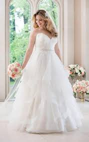 wedding dresses plus sizes plus size a line wedding dress with lace bodice stella york