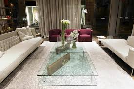 contemporary coffee table glass rectangular plane by massimo