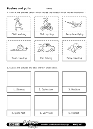 bbc schools science clips pushes and pulls worksheet