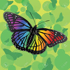 rainbow butterfly is an illustration of a rainbow or multicolor