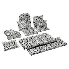 Black And White Patio Cushions by Damask Indoor Outdoor Chair Cushions Collection Christmas Tree
