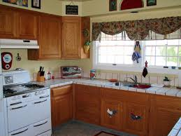 kitchen stunning u shape retro country kitchen with white tile