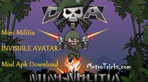 apk min mini militia invisible avatar mod apk no root