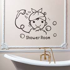 popular wall art quotes decals buy cheap wall art quotes decals shower room quote wall stickers bathroom glass door stickers cute children shower waterproof removable home decals