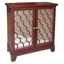 red honeycomb 2 door mirrored cabinet rc willey furniture store