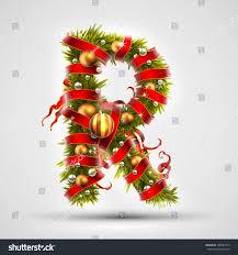 christmas font letter r christmas tree stock vector 708541819