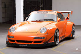 Porsche 911 Orange - crazy widebody corvette powered 1995 porsche 911 hits ebay