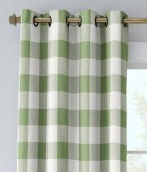 linen check grommet top curtains country curtains