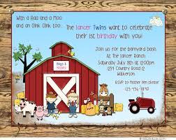 3 Perfect Ideas To Create Farm Birthday Party Invitations Badbrya Com