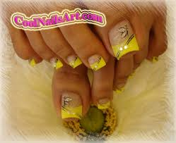 spring nail designs the golden touch toes design nail art