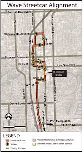 Fort Lauderdale Map Streetcar Route The Wave Streetcar