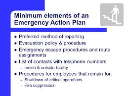 emergency action plan building emergency action plan sample