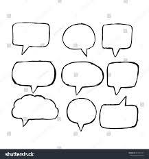 speech bubble hand drawn speech bubble hand drawn stock vector 619295747 shutterstock