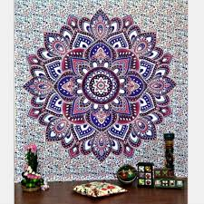 online get cheap lotus tapestry aliexpress com alibaba group cilected bohemian lotus mandala tapestry for home decor 203x153cm wall hanging cotton bedspread beach picnic throw