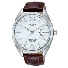 Jam Tangan Alba Putih harga alba jam tangan pria silver putih coklat