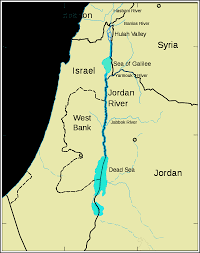 Europe Map With Rivers by The River Jordan