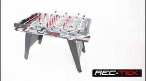 rec tek ping pong table 4ft rec tek foosball table with led scoring youtube