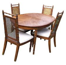 bamboo dining room chairs american of martinsville dining room set excellent set 6 american