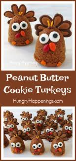 peanut butter cookie turkeys 3 d thanksgiving cookies