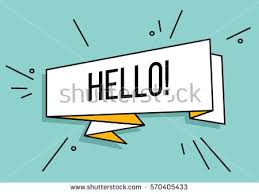 hello ribbon greeting card ribbon word hello vintage stock vector 570405433