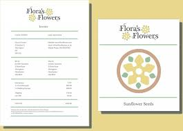 Florist Invoice Template by Printable Flowers Shop Invoice Format Template