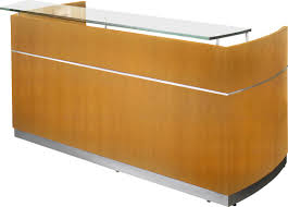 mayline napoli rectangular reception desk u0026 reviews wayfair
