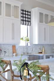 christmas in the kitchen with zdesign at home zdesign at home the drawn company faux roman shade with caitlin