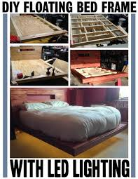 how to build a diy floating bed frame with led lighting maybe not