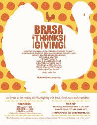 brasa thanksgiving take out package 2017