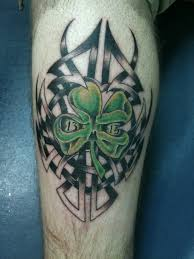 tribal four leaf clover tattoos creativefan