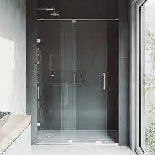 Shower Doors Reviews Vigo Ryland 50 X 72 75 Single Sliding Frameless Shower Door