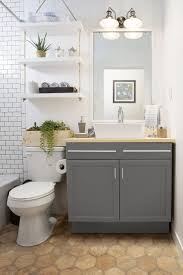 wood cabinet for bath storage idea small bathroom makeover idea