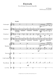 free printable sheet music for xylophone sheet music made by ffmb mallet ensemble 2 for 9 parts glockenspiel