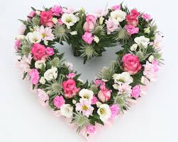 flowers for funeral modern style funeral flowers with pink and white mixed heart