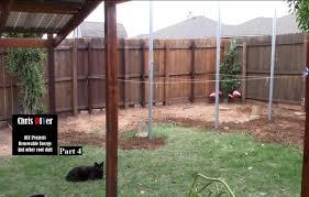 part 4 posts set in place suburbia backyard corner solar panel