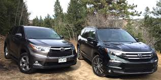 honda pilot measurements by the numbers pilot vs highlander the fast car