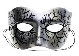 silver masks volt silver painted masquerade mask clothing