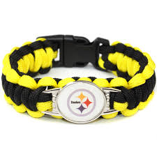 gifts for steelers fans pittsburgh steelers paracord bracelet sport american football team