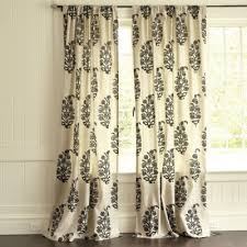 Black And White Draperies Drapery Panels For A Gray Dining Room Driven By Decor