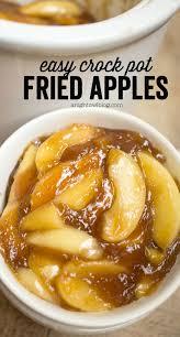 easy crock pot fried apples a owl