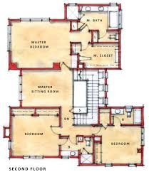 two story plan of two floor architecture house design with three